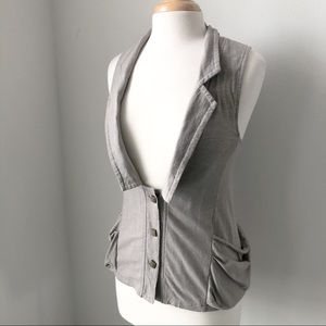 Luca couture grey vest size small